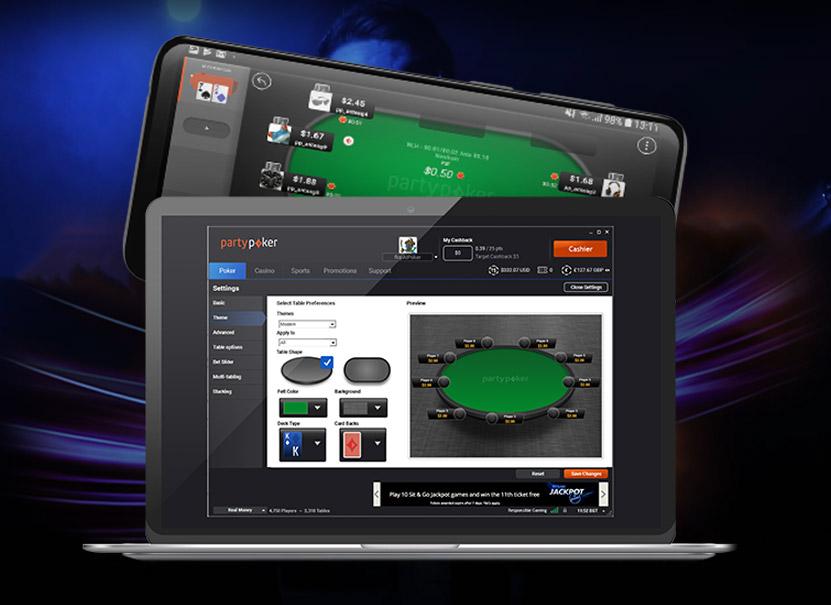 Игровой клиент partypoker для компьютера на Windows и MacOS и мобильного на iOS и Android.