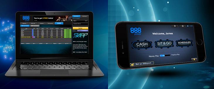 Игровой клиент для компьютера и мобильного от рума 888poker.